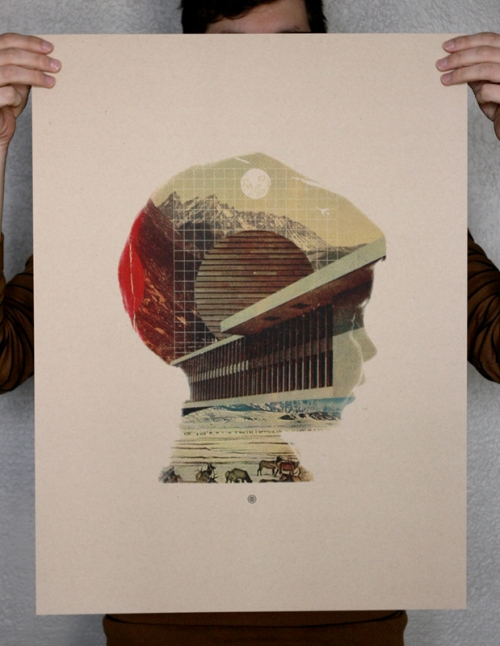 Mark Weaver Self Portrait Print