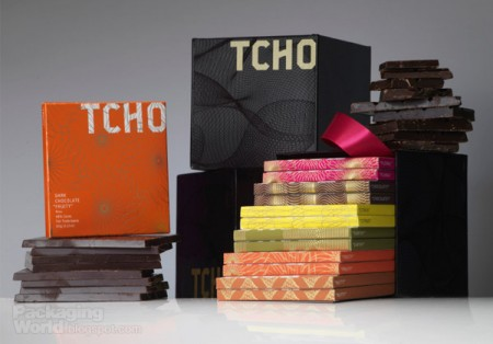 TCHO Chocolate packaging
